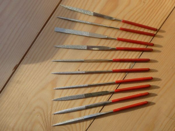 SET OF 10 DIFFERENT LUTHIER NUT FILES ETC, NICE QUALITY, NEW, U.K. SELLER